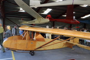 The Slingsby Falcon replica inside Hangar 2