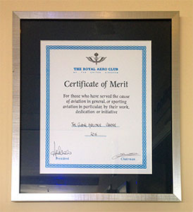 Royal Aero Club Certificate of Merit